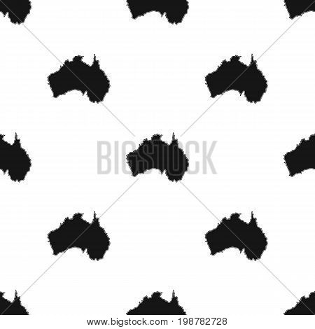 Territory of Australia icon in black design isolated on white background. Australia symbol stock vector illustration.