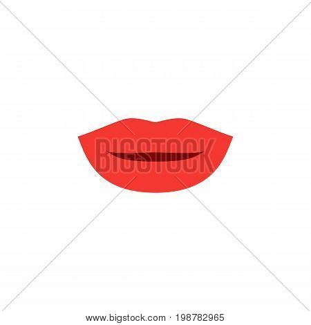 Lipstick Vector Element Can Be Used For Lips, Pomade, Makeup Design Concept.  Isolated Kiss Flat Icon.