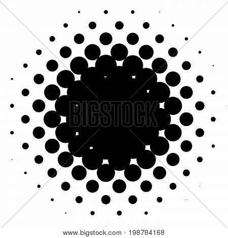 Halftone Element, Circular Halftone Pattern. Specks, Halftone Circle Gradient