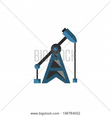 Rig Vector Element Can Be Used For Oil, Pump, Rig Design Concept.  Isolated Oil Pump Flat Icon.