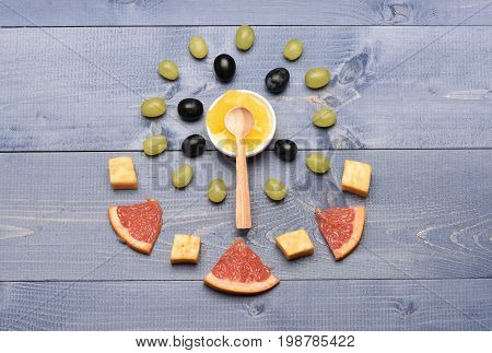 Art And Healthy Food Concept: Healthy Food Composition