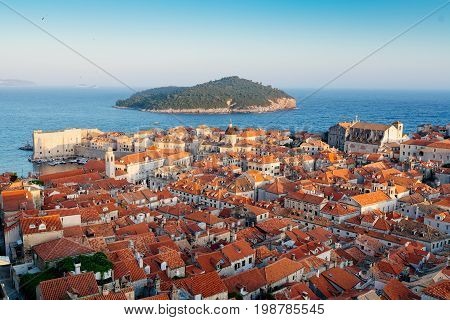 Beautiful View On Dubrovnik Old Town.