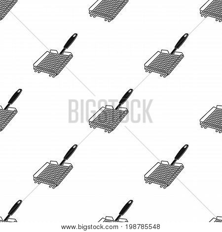 Grill grill.BBQ single icon in black style vector symbol stock illustration .