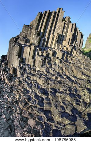 National Nature Monument Panska skala rock - Herrnhausfelsen - is a geological locality where stone organ pipes was formed due to the column separation of basalt during the cooling of magma