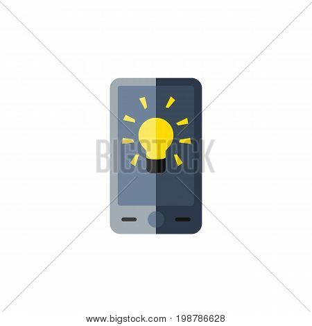 Screen Vector Element Can Be Used For Brightness, Screen, Bulb Design Concept.  Isolated Brightness Flat Icon.