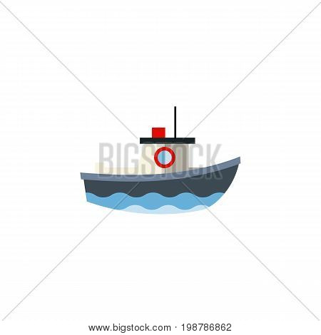 Transport Vector Element Can Be Used For Vessel, Ship, Transport Design Concept.  Isolated Vessel Flat Icon.