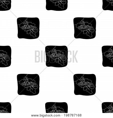 A fragment of the map of Belgium.The dark Belgian wolf. Belgium single icon in black style vector symbol stock web illustration.