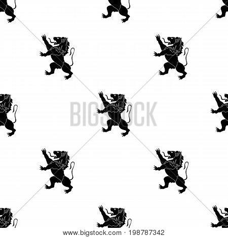 Golden lion symbol of belgium.The dark Belgian wolf. Belgium single icon in black style vector symbol stock web illustration.