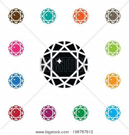 Treasure Vector Element Can Be Used For Treasure, Diamond, Gemstone Design Concept.  Isolated Gemstone Icon.