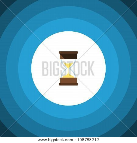 Sand Timer Vector Element Can Be Used For Hourglass, Sand, Timer Design Concept.  Isolated Loading Flat Icon.