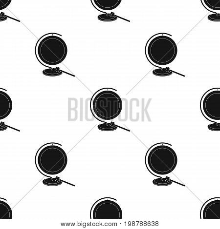 Boxing gong icon in black style isolated on white background. Boxing symbol vector illustration.