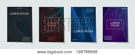 Backgrounds With Cool, Minimal Design. Applicable For Covers, Placards, Posters, Flyers And Banner.