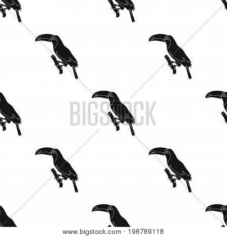 Brazilian toucan icon in black design isolated on white background. Brazil country symbol stock vector illustration.