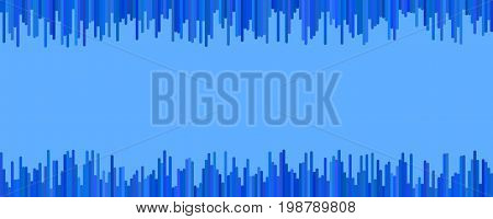 Banner background template design - horizontal vector graphic from vertical stripes in blue tones