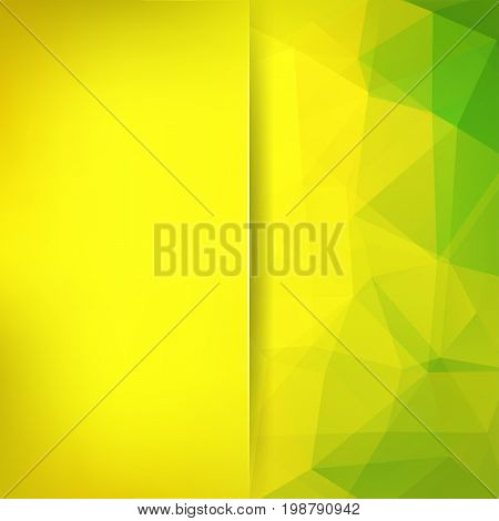 Abstract Background Consisting Of Yellow, Green Triangles. Geometric Design For Business Presentatio