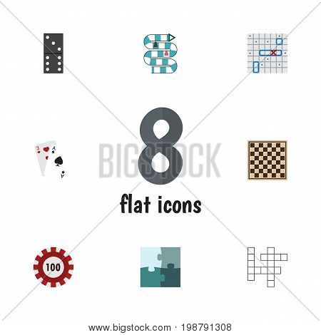 Flat Icon Games Set Of Guess, Sea Fight, Jigsaw And Other Vector Objects