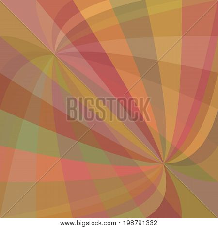 Double curved ray burst background - vector graphic design from curved rays