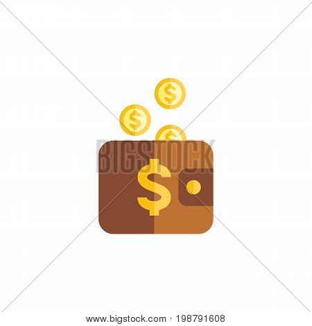 Payment Vector Element Can Be Used For Pouch, Payment, Money Design Concept.  Isolated Pouch Flat Icon.