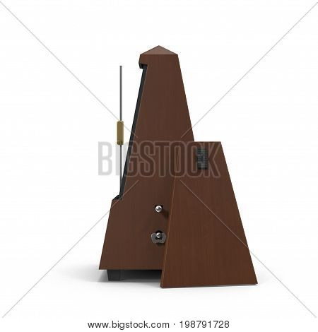 metronome isolated on white background. 3D illustration