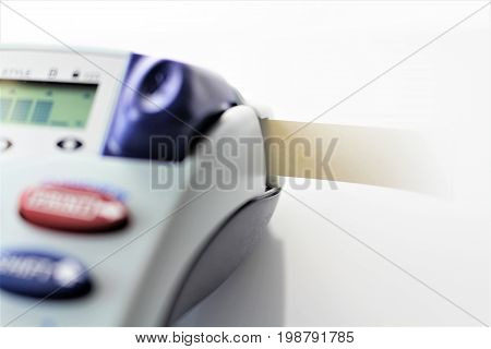 An Image of a Hand Label maker