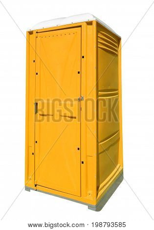 Portable Plastic Toilet - Yellow