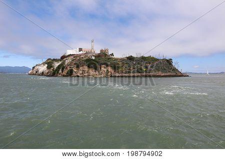 Alcatraz Island in San Francisco Bay. California. USA
