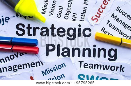 Strategic Planning Banner,decorate with color pen and hilight pen.