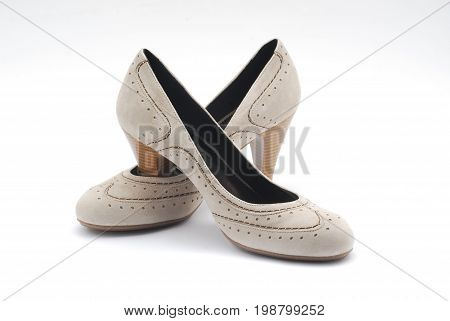 Classic women shoes isolated on white background