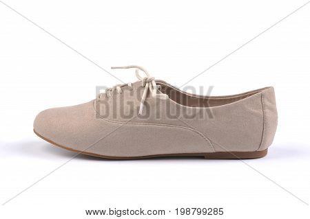 Stylish women shoe isolated on white background
