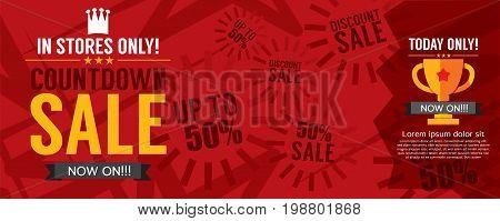 Countdown Sale Promotion Banner Vector Illustration. EPS 10