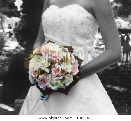 B&W Color Bouquet