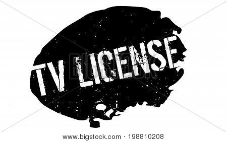 Tv License rubber stamp. Grunge design with dust scratches. Effects can be easily removed for a clean, crisp look. Color is easily changed.