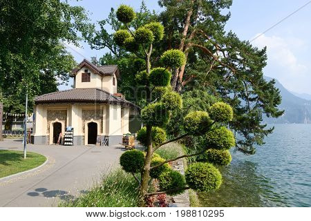 The Botanical Park Of Ciani At Lugano On Switzerland