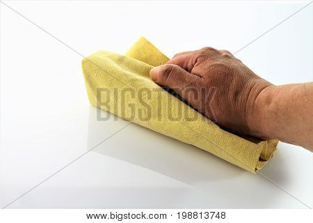 An image of cleaning a surface - housekeeping (Different color versions)