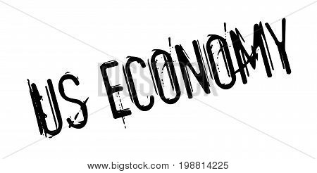 Us Economy rubber stamp. Grunge design with dust scratches. Effects can be easily removed for a clean, crisp look. Color is easily changed.