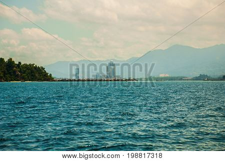 The View From The Boat. Kota Kinabalu, Sabah, Malaysia.