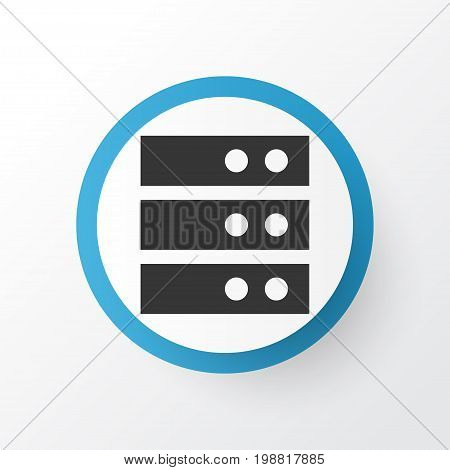 Premium Quality Isolated Datacenter Element In Trendy Style.  Server Icon Symbol.