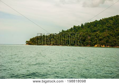 The View From The Boat To The Islands. Sabah, Malaysia.