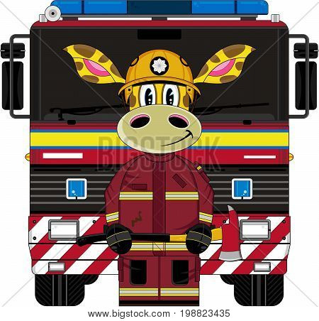 Giraffe & Uk Fire Engine.eps