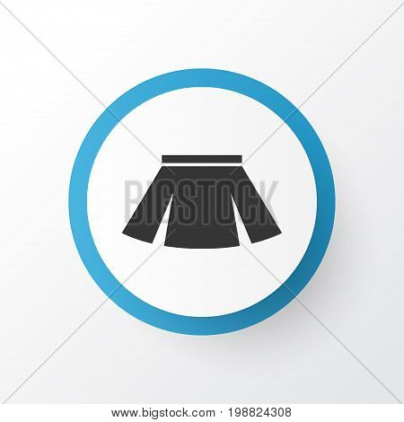 Premium Quality Isolated Stylish Apparel Element In Trendy Style.  Skirt Icon Symbol.