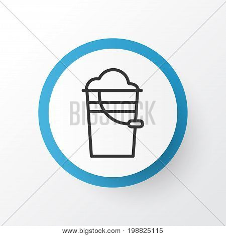 Premium Quality Isolated Bucket Element In Trendy Style.  Pail Icon Symbol.
