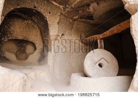 Millstone In Zelve Valley, Cappadocia