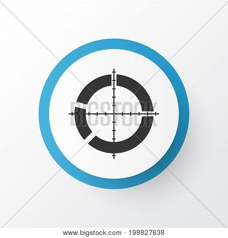 Premium Quality Isolated Segmented Scope Element In Trendy Style.  Target Icon Symbol.