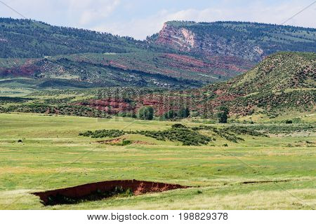 Colorado Rocky Mountain Scenic Beauty - Red Mountains in Northern Colorado