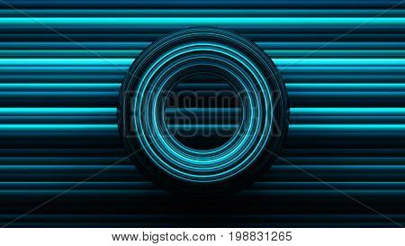 Abstract Background With Torus, 3D Rendering, Stretched Pixels Texture