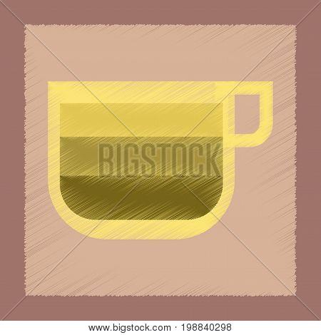flat shading style icon coffee cup latte macchiato