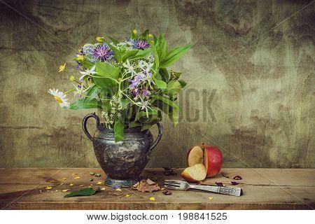 Still Life Of Wild Flowers