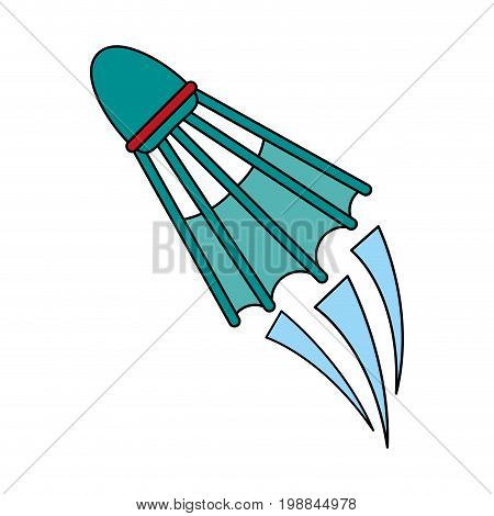 shuttlecock badminton sport icon image vector illustration design