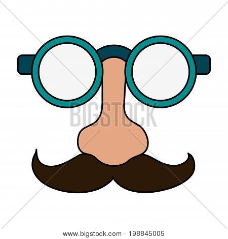 groucho marx glasses funny or joke item icon image vector illustration design