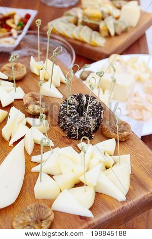 Cheese Plate: Emmental, Camembert Cheese, Blue Cheese